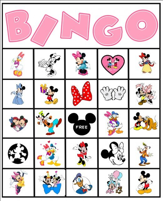 Minnie and Mickey Bingo game.