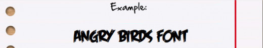 CLICK HERE for the Angry Birds Free Font