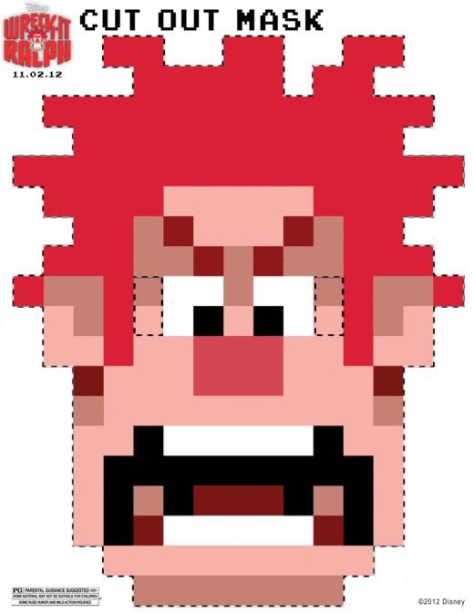 Wreck-it-Ralph 8-Bit Halloween Mask