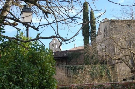 Walled belfry Issel, France