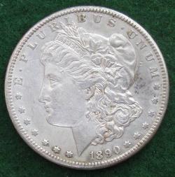 Morgan Dollar Obverse (front of coin)