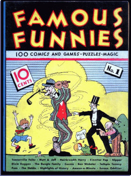 Famous Funnies, the first 10¢ comic book ever published, was nothing more than reprints of comic strips from the newspapers. As comic books became popular, publishers began hiring cartoonists to create and draw original comics.