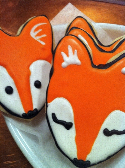 Fox Iced Sugar Cookies!