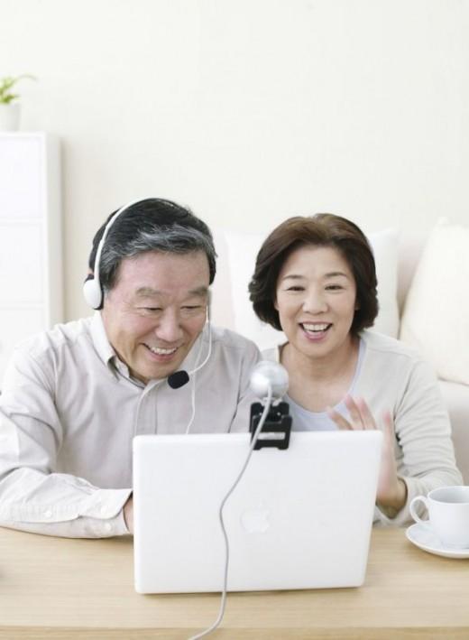 Couple Using Webcam