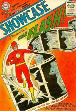 D.C.'s Showcase featured reboots of their 40's superheroes. Here we see The Flash in his more familiar costume.