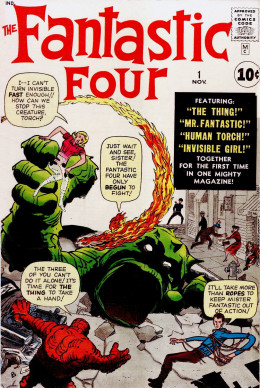 Marvel Comics answer to D.C.s JLA was The Fantastic Four #1.
