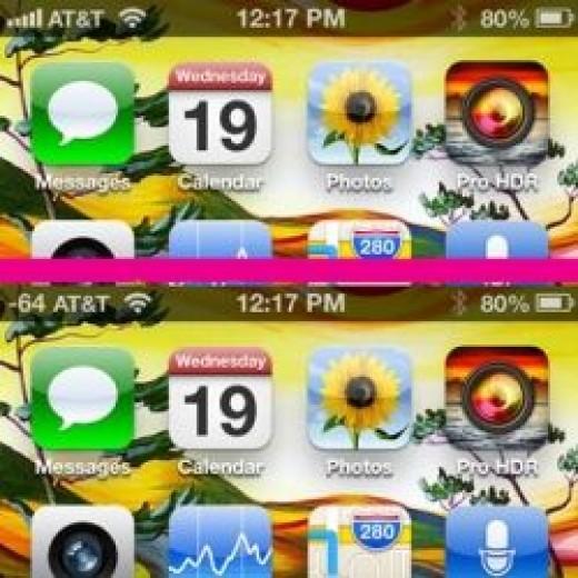iPhone -dBm Signal Meter