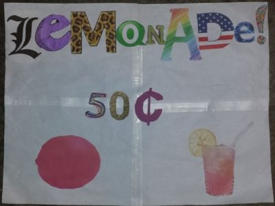 My Daughter's Creative Lemonade Stand Sign