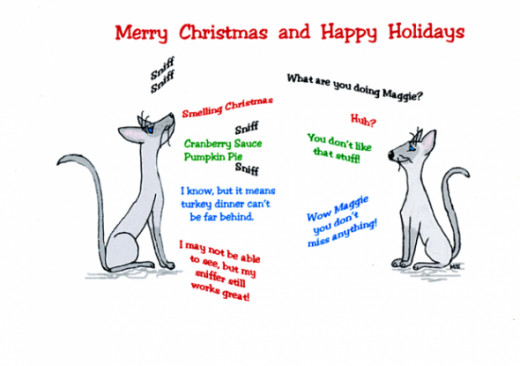 Christmas card inside