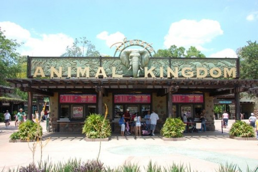Entrance of Disney's Animal Kingdom Park in Orlando, Florida.