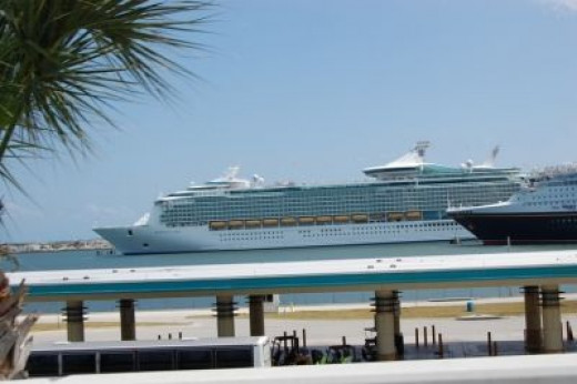 Port Canaveral is home to some beautiful cruise ships.