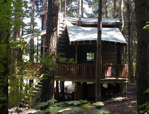 Lothlorien Woods Hide-A-Way Tree Houe Inn in Snowden, Washington