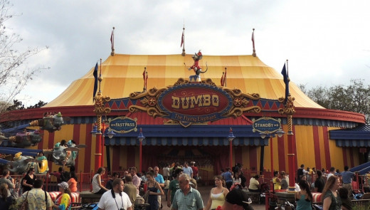 Dumbo the Flying Elephant in Storybook Circus at Disney World.
