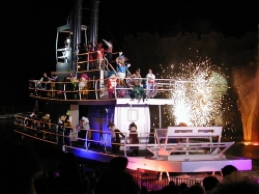 Character Boat At Fantasmic in Disney's Hollywood Studios