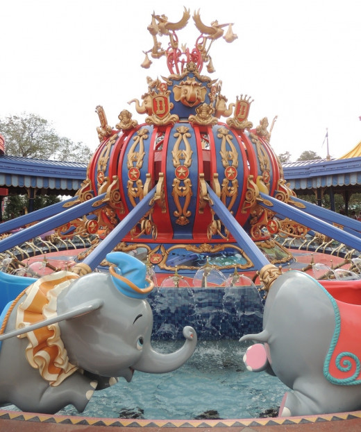 Dumbo the Flying Elephant ride in the Magic Kingdom at Disney World