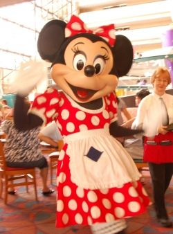 Minnie Mouse at a Disney Character Breakfast