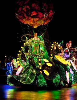 Tinker Bell Float in the Main Street Electrical Parade