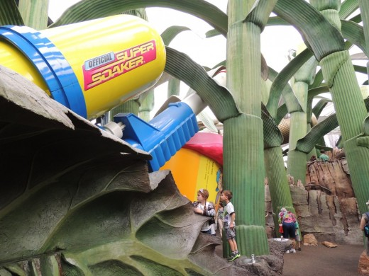 Giant Super Soaker in the Honey, I Shrunk the Kids Play Area