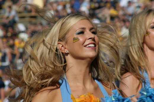 This John Martinez Pavliga picture of the UCLA Spirit Squad is actually from a game against Cal.  So sue me.