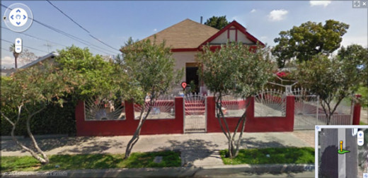 Google Earth photo of 4426 Lima Street in Los Angeles.  No Alexanders live there any more.