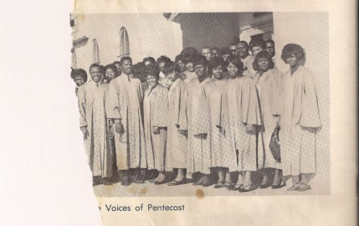 The Voices of Pentecost from Bethany Apostolic Church.  My dad is in the center of this torn photo, holding his glasses.