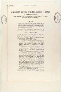 "In the United States, after intense political machinations, the Civil Rights Act was passed by Congress and then signed into law on July 2nd.  The full title of the law is: ""An act to enforce the constitutional right to vote, to confer jurisdiction u"