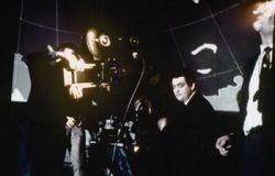 Stanley Kubrick on the set of Dr. Strangelove