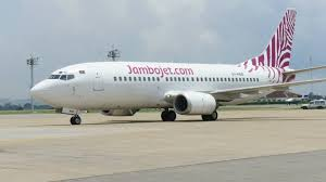 A Jambo Jet aircraft at Moi international airport, Mombasa