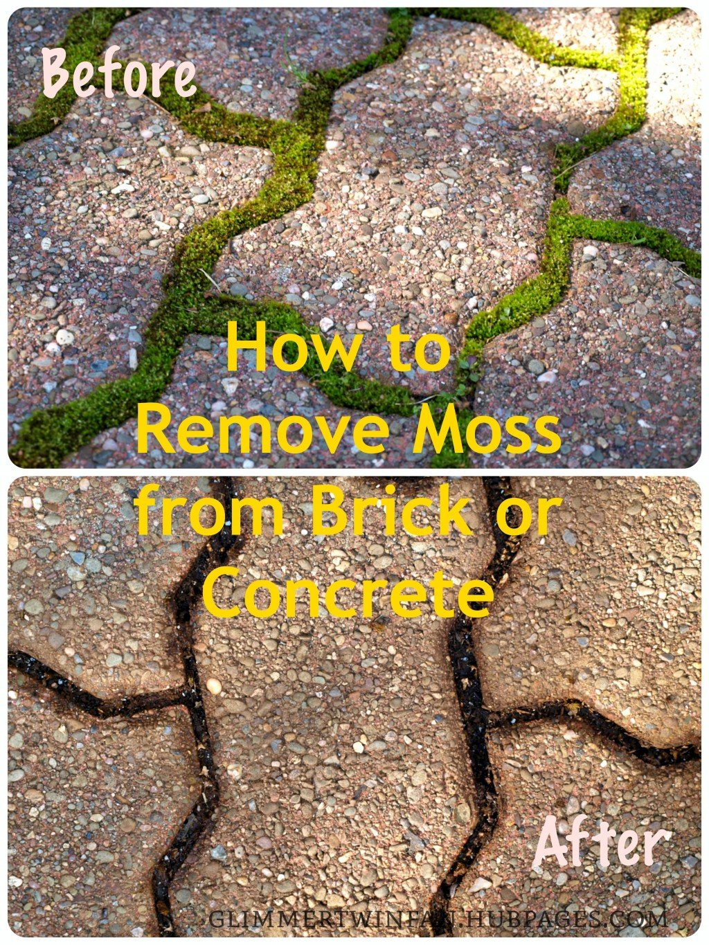 How to remove moss from brick or concrete dengarden - Removing paint from brick exterior collection ...
