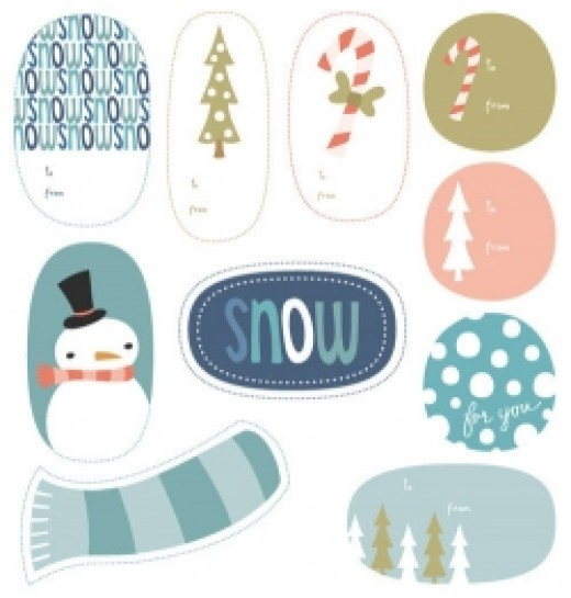 printable winter holiday tags