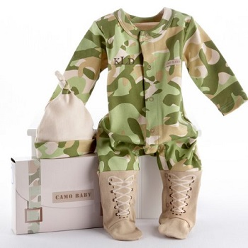 baby camo personalized outfit