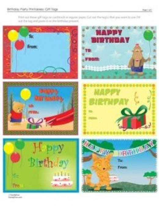 printable kids birthday gift tags