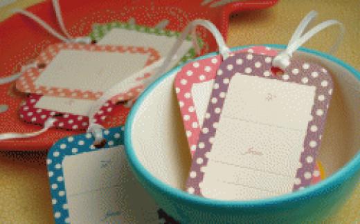 polka dot printable gift tags