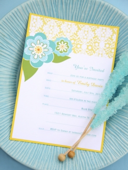 Jayme Marie Gonzalez printable birthday invitation