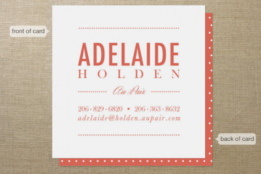 babysitting business card - colorful name