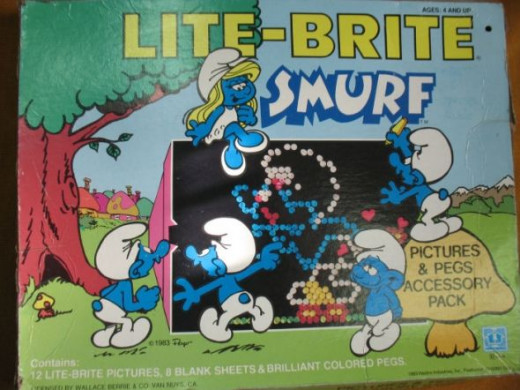Lite Brite Smurf Picture & Pegs Accessory Pack