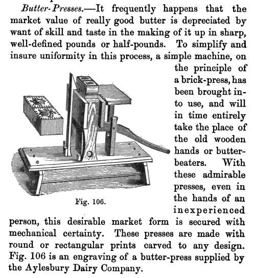 Industrial Butter Press, Late 1800s