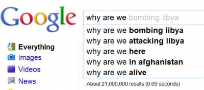 """Google Suggestions when you type in """"Why we are""""  (Lots of people are asking these questions!)"""