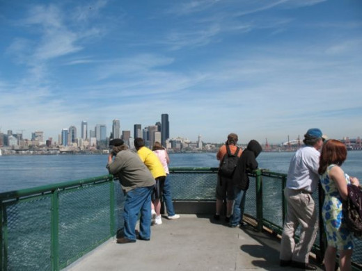 Ferry Ride View of Seattle Skyline