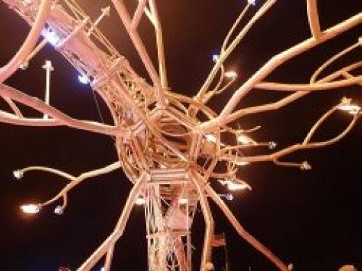 Art shaped like a Neuron