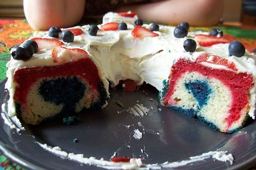 Red, White, and Blue All American Cake