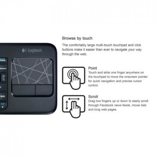 Easy Navigation and Scrolling with the Logitech K400