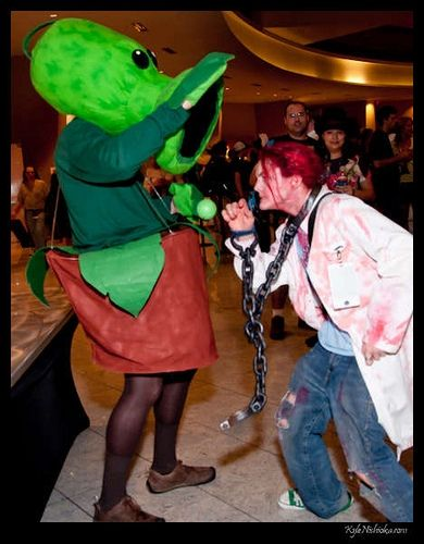 Plants vs. Zombie Peashooter Costume