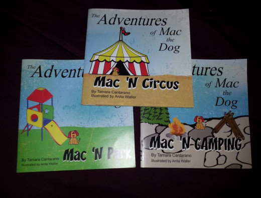 "All three ""Adventures of Mac the Dog"" books. Each one has a positive message for little ones to enjoy."