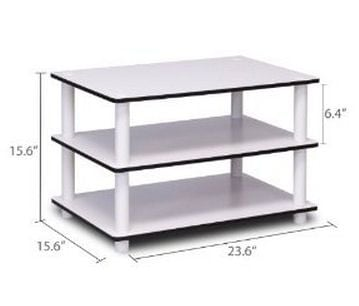 Dimensions of the Furinno 11173 Just 3-Tier Coffee Table