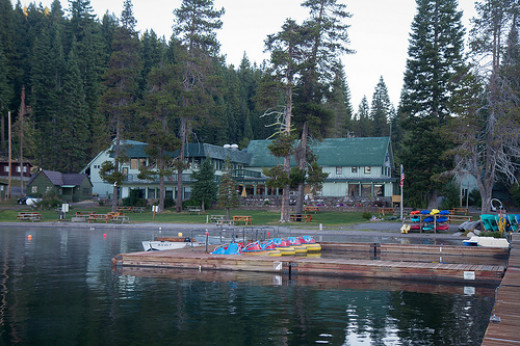 Photo of the docks and resort
