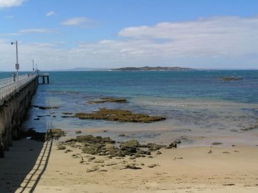 A view across the 'Rip' from Point Lonsdale