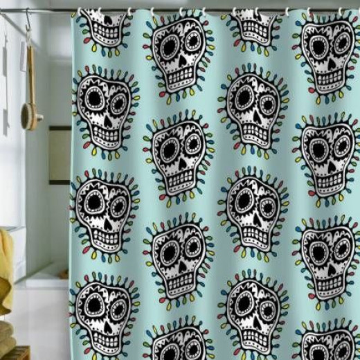 Sugar Skull Shower Curtain for Day of the Dead