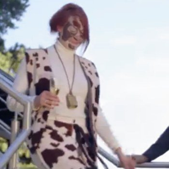 The Cow from The Fox Video by Ylvis. Screen Shot from YouTube.