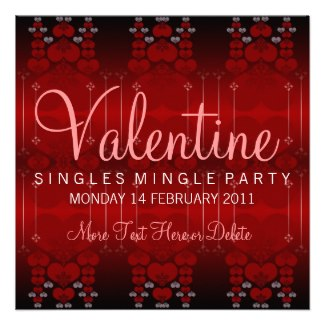 Single Mingle Valentine Party Invitations